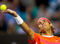 Rafael Nadal (ESP) (2) against Andy Murray (GBR) (5) in the Quarter Finals of the Mens Singles. Murray beat Nadal due to retirement. 6-3 7-6 3-0..International Tennis - Australian Open Tennis -  Tues 26  Jan 2010 - Melbourne Park - Melbourne - Australia ..© Frey - AMN Images, 1st Floor, Barry House, 20-22 Worple Road, London, SW19 4DH.Tel - +44 20 8947 0100.mfrey@advantagemedianet.com