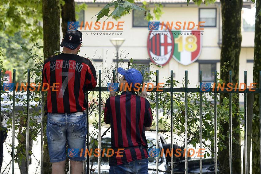 Carnago (Va) 07/07/2015 - 2016/2017 Calcio raduno A.C. Milan Football pre season training  / foto Daniele Buffa/Image Sport/Insidefoto<br /> <br /> <br /> nella foto: tifosi Milan