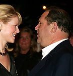 Eve Chilton Weinstein and Harvey Weinstein attending the Opening Night of the New Broadway Musical WONDERFUL TOWN at the Al Hirschfeld Theatre in New York City.<br /> November 23, 2003