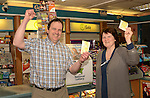 SLane Lotto Win – Peter and Irene Fleming of Mimnagh's Gala Shop in Slane where the €6.5m winning Lotto ticket was sold on Tuesday. www.newsfile.ie