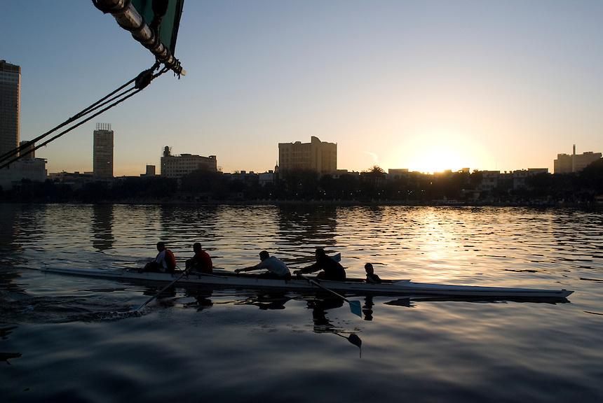 Photos of the Nile River taken during a surise Felucca cruise.