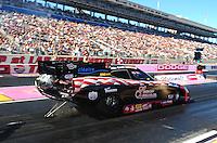 Oct. 28 2011; Las Vegas, NV, USA: NHRA funny car driver Gary Densham during qualifying for the Big O Tires Nationals at The Strip at Las Vegas Motor Speedway. Mandatory Credit: Mark J. Rebilas-