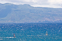 Windsurfers at the beach at Hookipa