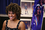 "Ariana DeBose attends the press Meet & Greet  for ""Summer: The Donna Summer Musical"" on March 8, 2018 at the New 42nd Street Studios,  in New York City."