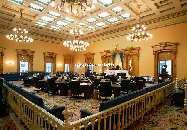 Senate Chamber, Ohio State House, Columbus, Ohio, USA