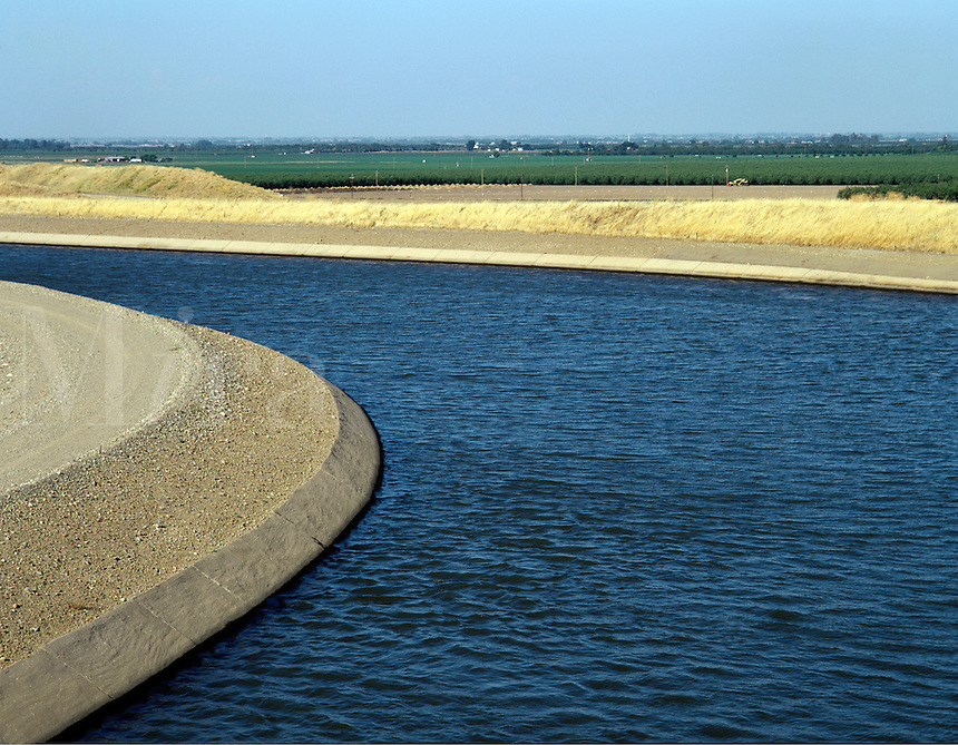 The CALIFORNIA AQUAEDUCT supplies water to agricultural land in CENTRAL CALIFORNIA