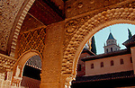 Spain, The Alhambra, Grenada, Moorish architecture, Andalucia, Spain..