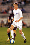 26 Sept 2006,  Tim Ream (27) of SLU moves the ball up field as an unidentified MSU player converges.  The St. Louis University Billikens defeated the Missouri State University Bears by a score of 1-0 in a regular season conference match at Robert R. Hermann Stadium, St. Louis, Missouri.