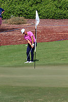 Thorbjorn Olesen (DEN) on the 13th green during the 2nd round of the DP World Tour Championship, Jumeirah Golf Estates, Dubai, United Arab Emirates. 16/11/2018<br /> Picture: Golffile | Fran Caffrey<br /> <br /> <br /> All photo usage must carry mandatory copyright credit (© Golffile | Fran Caffrey)