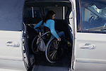 "Brandy Brock uses a ramp to get into her van to drive home after work at Somerset Community College in London, Ky., on Thursday, Oct. 25, 2012. Although Brock was injured in a car accident, she was driving independently eight months later. ""With what I have gone through, it has shown me and other people that no matter what life throws at you, you can do anything,"" Brock said. ""Always take the stairs because maybe someday you can't anymore."" Photo by Tessa Lighty"