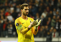 Torwart Kevin Trapp (Eintracht Frankfurt) - 04.10.2018: Eintracht Frankfurt vs. Lazio Rom, UEFA Europa League 2. Spieltag, Commerzbank Arena, DISCLAIMER: DFL regulations prohibit any use of photographs as image sequences and/or quasi-video.