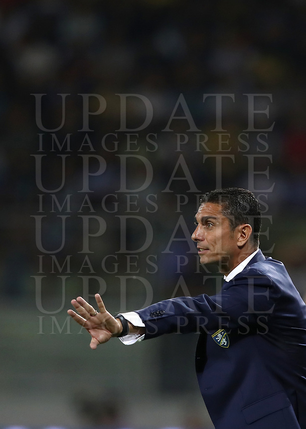 Calcio, Serie A: Frosinone-Juventus, Benito Stirpe stadium, Frosinone, September 23, 2018. <br /> Frosinone's coach Moreno Longo during the Italian Serie A football match between Frosinone and Juventus at Frosinone stadium on September 23, 2018.<br /> UPDATE IMAGES PRESS/Isabella Bonotto