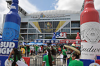Houston, TX - Monday June 13, 2016: Sponsor prior to a Copa America Centenario Group D match between Colombia (COL) vs Costa Rica (CRC) at NRG Stadium.