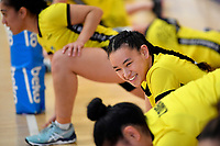 Central Manawa&rsquo;s Saviour Tui during the Beko Netball League - Central Manawa v Southern Blast at ASB Sports Centre, Wellington, New Zealand on Sunday 12 May 2019. <br /> Photo by Masanori Udagawa. <br /> www.photowellington.photoshelter.com