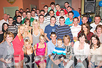 KEY TO THE DOOR: Sean Hegarty, Shanakill, Tralee (seated centre) celebrated his 21st birthday last Friday night in the Slievemish bar, Boherbee, Tralee with his mom Joan, sister Jennifer, brother Christopher, nephew Adam and many friends.   Copyright Kerry's Eye 2008
