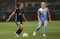 Piscataway, NJ - Saturday Aug. 27, 2016: Sarah Killion, Julie Johnston during a regular season National Women's Soccer League (NWSL) match between Sky Blue FC and the Chicago Red Stars at Yurcak Field.