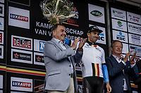 Sean De Bie (BEL/Veranda's Willems - Crelan) is the new leader in the Napoleon Games Cycling Cup Ranking. <br /> <br /> 103th Kampioenschap van Vlaanderen 2018 (UCI 1.1)<br /> Koolskamp &ndash; Koolskamp (186km)
