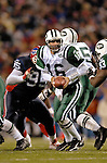 16 October 2005: Vinny Testaverde (16), quarterback for the New York Jets, sets for a handoff against the Buffalo Bills on October 16, 2005 at Ralph Wilson Stadium in Orchard Park, NY. The Bills defeated the division rival Jets 27-17. ..Mandatory Photo Credit: Ed Wolfstein