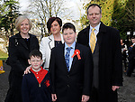 Christopher Whelan who was confirmed at the church of the Immaculate conception Termonfeckin pictured with parents Aidan and Michelle, brother Daniel and sponsor Sandra Whelan. Photo: Colin Bell/pressphotos.ie