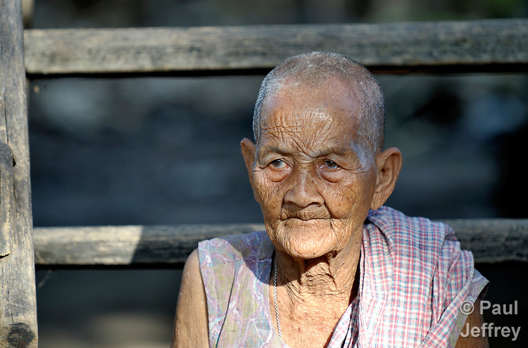 An old woman in the Cambodian village of Char.
