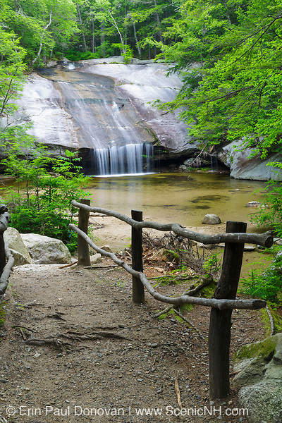 Beede Falls on Bearcamp River in Sandwich Notch in Sandwich, New Hampshire USA during the summer months.