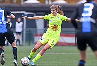 20191123 – BRUGGE, BELGIUM : Gent's Marie Minnaert pictured during a women soccer game between Dames Club Brugge and K AA Gent Ladies on the ninth matchday of the Belgian Superleague season 2019-2020 , the Belgian women's football  top division , saturday 23 th November 2019 at the Jan Breydelstadium – terrain 4  in Brugge  , Belgium  .  PHOTO SPORTPIX.BE | DAVID CATRY