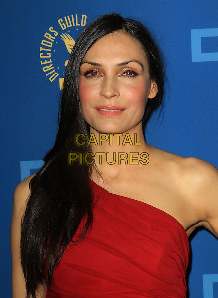 Famke Janssen.65th Annual Directors Guild Of America Awards - Arrivals - Press Room Held At The Ray Dolby Ballroom at Hollywood & Highland Center, Hollywood, California, USA..February 2nd, 2013.headshot portrait red one shoulder   .CAP/ADM/KB.©Kevan Brooks/AdMedia/Capital Pictures.