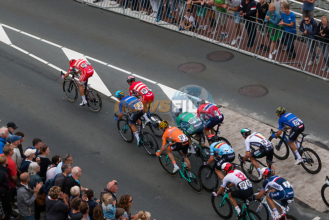 The chasing group including Sam Bennett (IRL) approach the finish line of the Elite Men's Road Race during the 2019 UEC European Road Championships, Alkmaar, The Netherlands, 11 August 2019.<br /> <br /> Photo by Thomas van Bracht / PelotonPhotos.com | All photos usage must carry mandatory copyright credit (Peloton Photos | Thomas van Bracht)