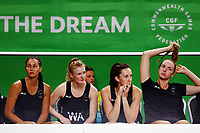 The Silver Ferns bench look on. Gold Coast 2018 Commonwealth Games, Netball, New Zealand Silver Ferns v England, Gold Coast Convention and Exhibition Centre, Gold Coast, Australia. 11 April 2018 © Copyright Photo: Anthony Au-Yeung / www.photosport.nz /SWpix.com