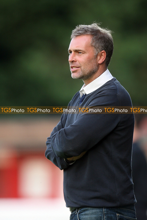 Dagenham and Redbridge manager Wayne Burnett - Dagenham and Redbridge vs Colchester United at the London Borough of Barking and Dagenham Stadium - 03/09/13 - MANDATORY CREDIT: Dave Simpson/TGSPHOTO - Self billing applies where appropriate - 0845 094 6026 - contact@tgsphoto.co.uk - NO UNPAID USE