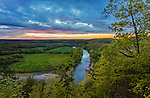 Buffalo National River, Arkansas: Sunset clouds over the Buffalo River near Tyler Bend