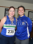 Tracy McCarron and Eva Lamgova who took part in the Seamie Weldon memorial run at St. Mary's GAA club Ardee. Photo:Colin Bell/pressphotos.ie