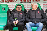 09.02.2019, HDI Arena, Hannover, GER, 1.FBL, Hannover 96 vs 1. FC Nuernberg<br /> <br /> DFL REGULATIONS PROHIBIT ANY USE OF PHOTOGRAPHS AS IMAGE SEQUENCES AND/OR QUASI-VIDEO.<br /> <br /> im Bild / picture shows<br /> Michael K&ouml;llner / Koellner (Trainer 1. FC Nuernberg) mit Wasserflasche und Andreas Bornemann (Vorstand Sport 1. FC Nuernberg) auf Trainerbank vor dem Spiel, <br /> <br /> Foto &copy; nordphoto / Ewert