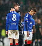 08.11.2019 League Cup Final, Rangers v Celtic: Steven Gerrard with Ryan Jack and James Tavernier