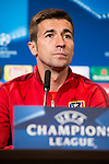 Gabi Fernandez during Atletico de Madrid's press conference the day before the EUFA Champions League match between Atletico de Madrid and FC. Barcelona at Vicente Calderon in Madrid. April 13, 2016. (ALTERPHOTOS/Borja B.Hojas)