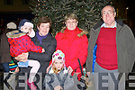 Aoibhín, Noreen and Riadh O'Sullivan with Eileen and Paudie Clifford at the Killorglin Christmas parade on Sunday evening.