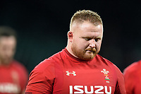 Samson Lee of Wales looks dejected after the match. Natwest 6 Nations match between England and Wales on February 10, 2018 at Twickenham Stadium in London, England. Photo by: Patrick Khachfe / Onside Images