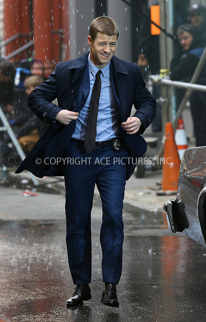 WWW.ACEPIXS.COM<br /> <br /> March 20 2014, New York City<br /> <br /> Actor Ben McKenzie was on the set of the new TV show 'Gotham' on March 20 2014 in New York City<br /> <br /> By Line: Philip Vaughan/ACE Pictures<br /> <br /> ACE Pictures, Inc.<br /> tel: 646 769 0430<br /> Email: info@acepixs.com<br /> www.acepixs.com