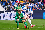 Javier Eraso of CD Leganes and Nacho Monreal of Real Sociedad