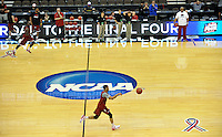 NWA Democrat-Gazette/Michael Woods --03/15/2015--w@NWAMICHAELW... The University of Arkansas Razorbacks basketball team runs drills Wednesday evening during their practice at Jacksonville Veterans Memorial Arena in Jacksonville, Florida.