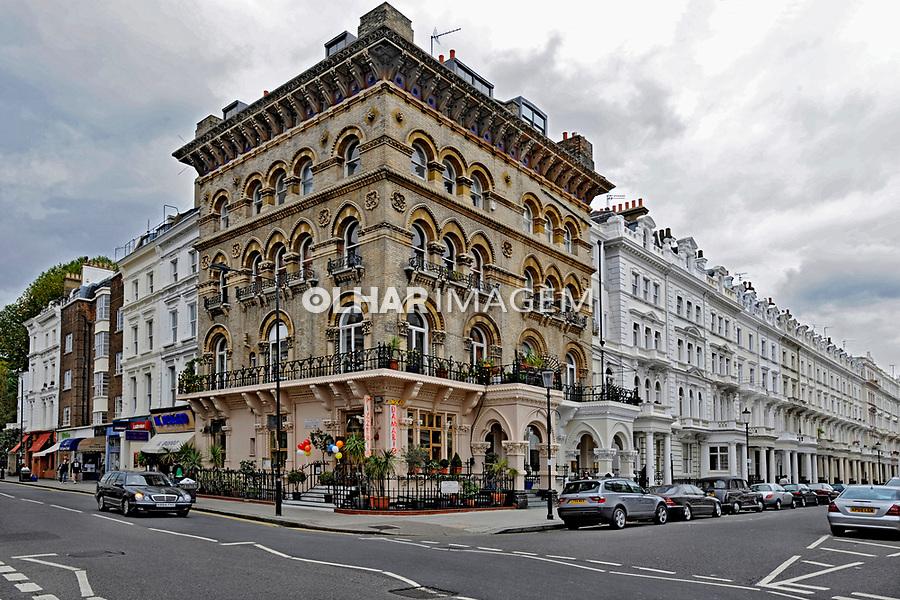Predio de apartamentos. Londres. Inglaterra. 2008. Foto de Juca Martins.