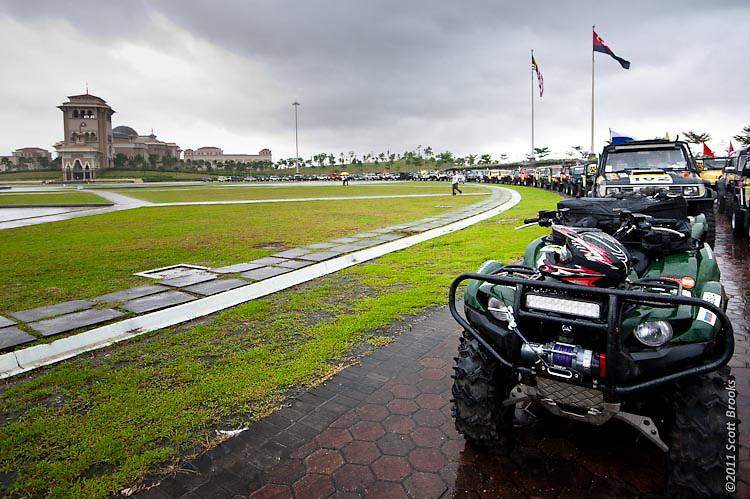 The convoy forms at Kota Iskandar, Nusa Jaya, Johor, Malaysia