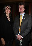 Pam MacKinnon & Michael Cumpsty.Behind the Scenes at the 2012 Tony Award-Meet The Nominees Press Reception at Millennium Broadway Hotel on May 2, 2012 in New York City. © Walter McBride/WM Photography .