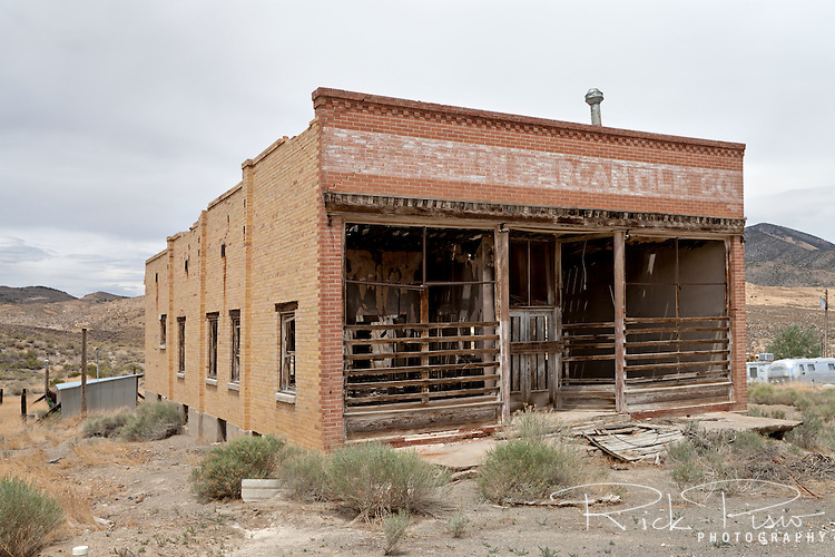 Goodwin Mercantile Building in the mining town of Gold Hill, Utah. The route of the Lincoln Highway's Goodyear Cutoff passed through Gold Hill. When the Lincoln Highway was rerouted north through Wendover Gold Hill was bypassed.