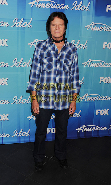 "John Fogerty.Press room during ""American Idol Season 11 Grand Finale"" Show at Nokia Theatre L.A. Live in Los Angeles, California, USA..May 23rd, 2012 .full length white blue check shirt black jeans denim.CAP/ROT/TM.©Tony Michaels/Roth Stock/Capital Pictures"