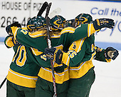 Danielle Boudreau (Clarkson - 10), Daniella Matteucci (Clarkson - 17), Juana Baribeau (Clarkson - 25) - The Northeastern University Huskies defeated the visiting Clarkson University Golden Knights 5-2 on Thursday, January 5, 2012, at Matthews Arena in Boston, Massachusetts.