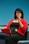 © Joel Goodman - 07973 332324 . 22/09/2013 . Brighton , UK . AMY LAME on a panel discussing Better Politics - Equalities this afternoon (Sunday 22nd September 2013) . Day 1 of the Labour Party 's annual conference in Brighton . Photo credit : Joel Goodman