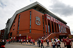 A general view outside the ground before the premier league match at Anfield Stadium, Liverpool. Picture date 27th August 2017. Picture credit should read: Paul Thomas/Sportimage