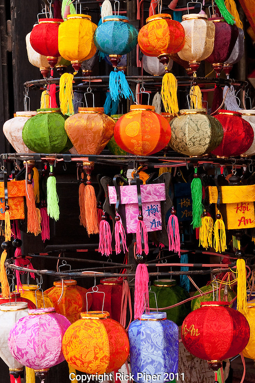Small silk lanterns in a shop, Hoi An, Vietnam