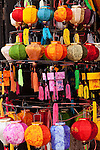 Small silk lanterns in a shop, Hoi An, Vietnam